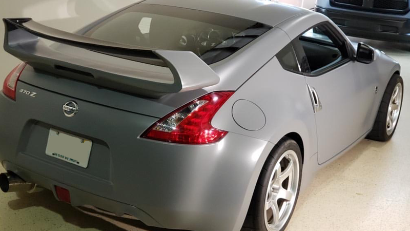 Satin Nardo Gray wrap by Immortal Designs in Vero Beach, FL (@immortal_wraps)