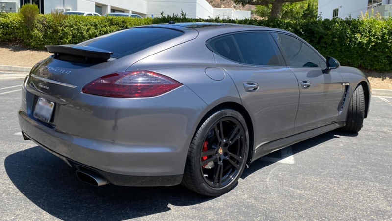 Gloss Charcoal Metallic wrap by Evoke Customs in Yorba Linda, CA