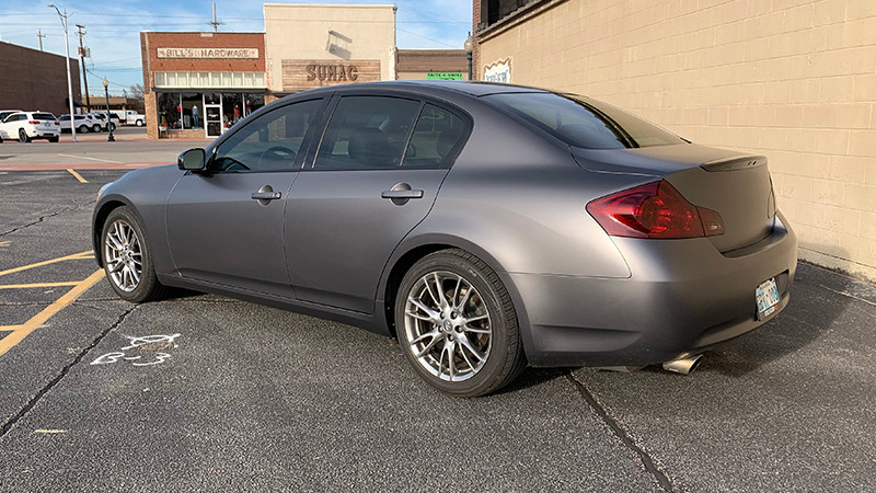 Satin Charcoal Metallic wrapped by Jacob Simpler, Edmond, OK.