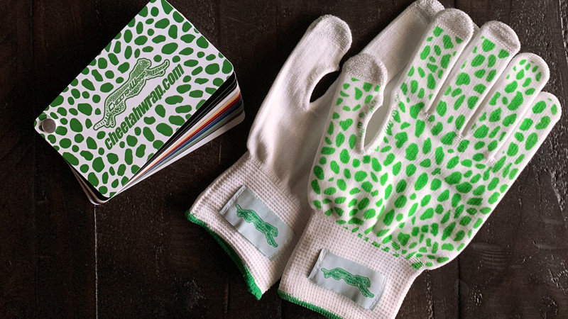 Free pair of CheetahWrap installation gloves included with every Sample Book purchase.