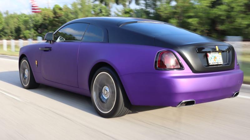 Satin Passion Purple Aluminum and Satin Black wrap by Tread Marks in Doral, FL (@treadmarks_miami)