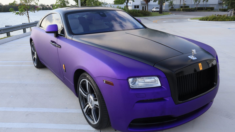 Satin Passion Purple Aluminum and Satin Black wrap by Tread Marks in Doral, FL (@treadmarks_miami)