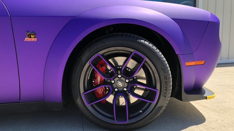 Satin Passion Purple Aluminum wrap by Chrome Customs in Stow, Ohio (@chromecustomsonline)