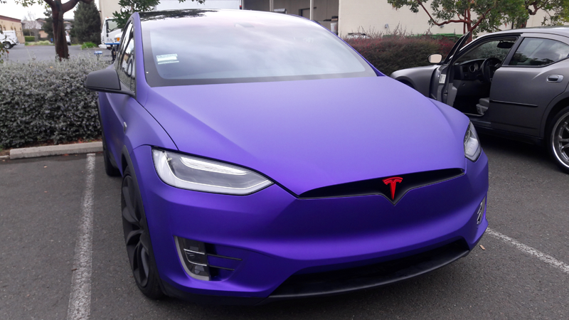 Satin Passion Purple Aluminum wrap by @alpha_wraps_ in Napa, California
