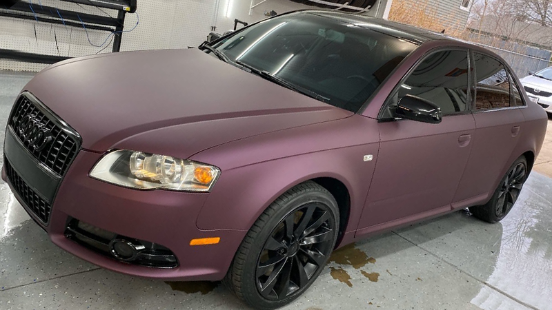 Satin Black Rose Aluminum wrap by Ideal Auto Restyling in Glendale Heights, IL (@ideal_auto_restyling)