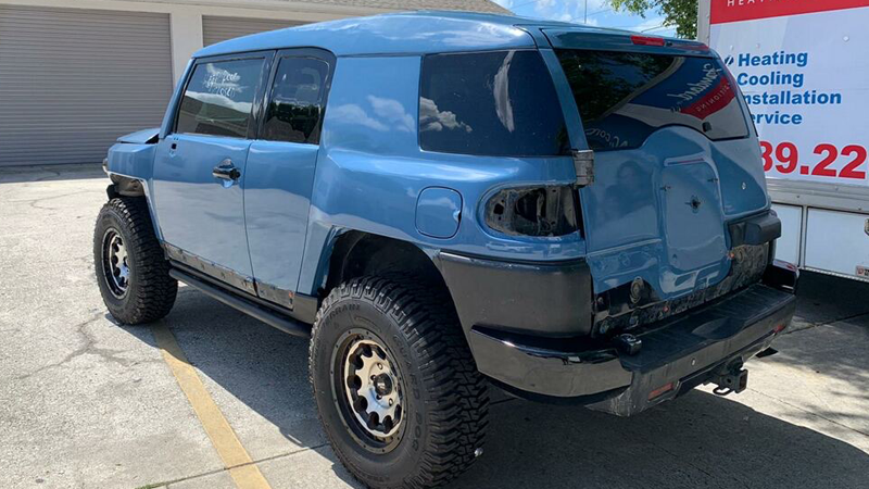 Gloss Cavalry Blue Gray wrap by Justin Redden in Tampa Bay, FL