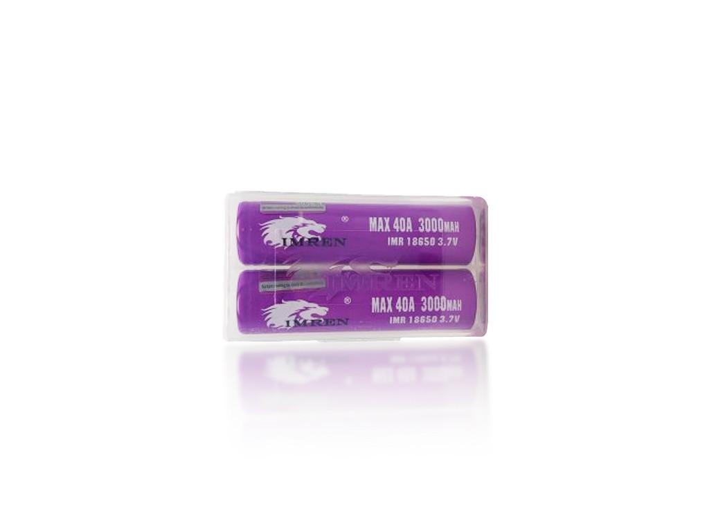 IMREN 18650 Batteries 3000mAh 40A(Pair)