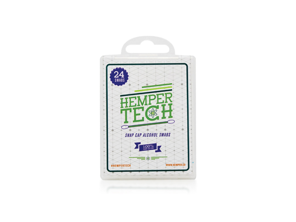 HEMPER Tech Snapcap Alcohol Swabs