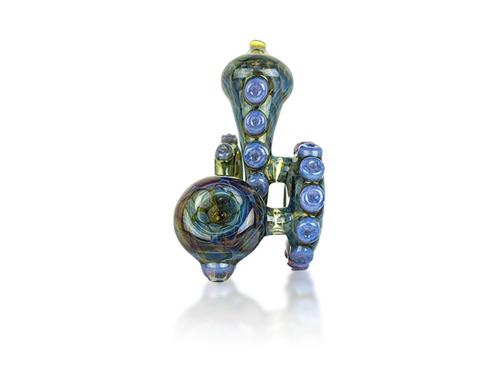 HD Glass Octolock Sherlock Honeycomb Pipe