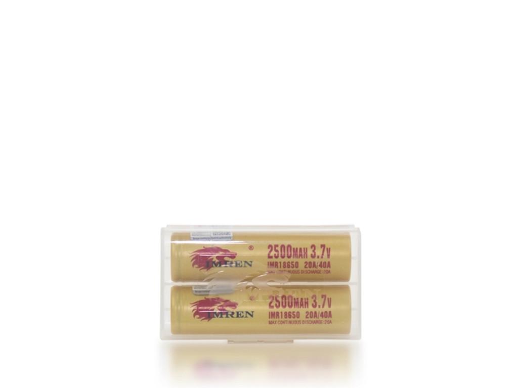 IMREN 18650 Batteries 2500mAh (Pair)