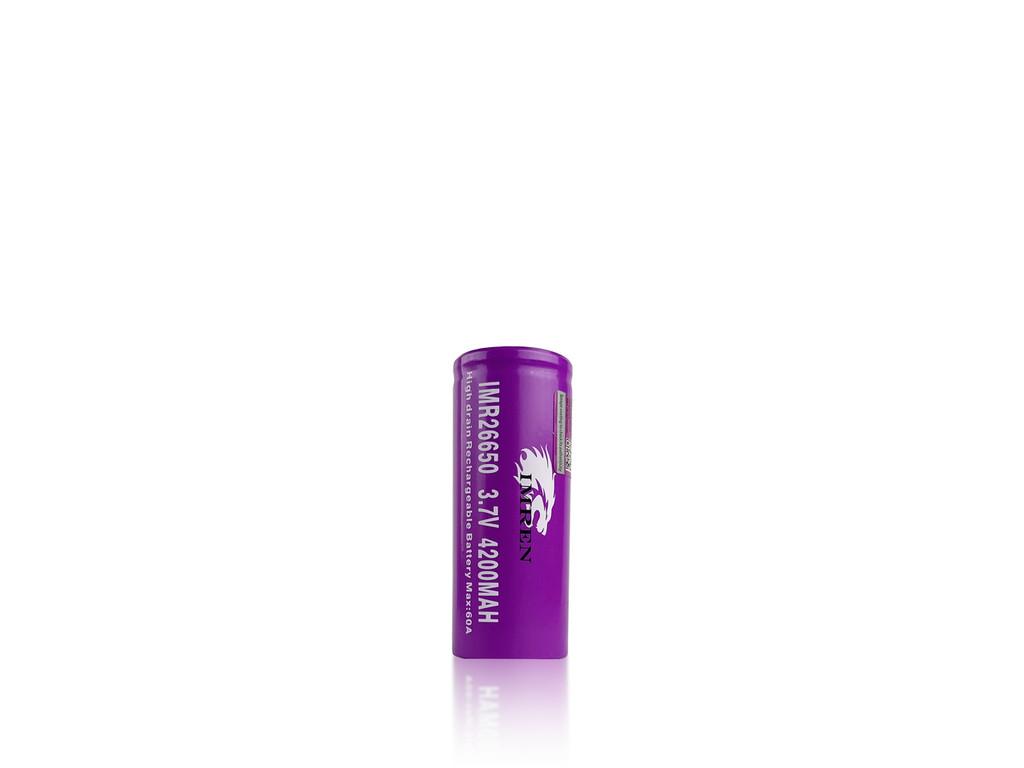 IMREN 26650 4200mAh Flat Top Batteries - 2 Pack