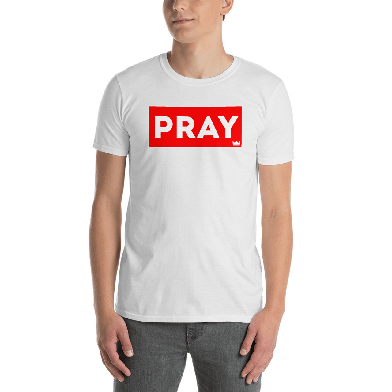 PRAY Box Tee - Short Sleeve Unisex T-Shirt