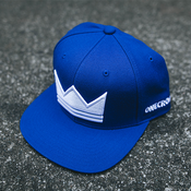 Royal Blue Crown Snapback Hat, Christian Streetwear