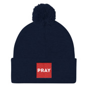 PRAY Box Beanie - Pom Pom Knit Cap