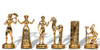 Minoan Civilization Metal Theme Chess Set by Manopoulos