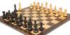 "Fierce Knight Staunton Chess Set Ebonized and Boxwood Pieces with Macassar Ebony Classic Chess Board 3"" King - Zoom 1"