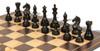 "Fierce Knight Staunton Chess Set Ebonized and Boxwood Pieces with Macassar Ebony Classic Chess Board 3"" King - Ebonized Zoom"