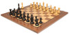 "Fierce Knight Staunton Chess Set Ebonized and Boxwood Pieces with Walnut Classic Chess Board 3"" King - View 1"