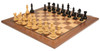 "Fierce Knight Staunton Chess Set Ebonized and Boxwood Pieces with Walnut Classic Chess Board 3"" King - View 2"