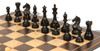 "Fierce Knight Staunton Chess Set Ebonized and Boxwood Pieces with Macassar Ebony Classic Chess Board 3.5"" King - Ebonized Zoom"