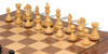 "Fierce Knight Staunton Chess Set Ebonized and Boxwood Pieces with Walnut Classic Chess Board 3.5"" King - Boxwood Zoom"