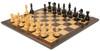 "Fierce Knight Staunton Chess Set Ebonized and Boxwood Pieces with Macassar Ebony Classic Chess Board 4"" King - View 2"