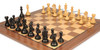 "Fierce Knight Staunton Chess Set Ebonized and Boxwood Pieces with Walnut Classic Chess Board 4"" King - Zoom 1"
