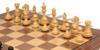"Fierce Knight Staunton Chess Set Ebonized and Boxwood Pieces with Walnut Classic Chess Board 4"" King - Boxwood Zoom"