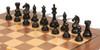 "Fierce Knight Staunton Chess Set Ebonized and Boxwood Pieces with Walnut Classic Chess Board 4"" King - Ebonized Zoom"
