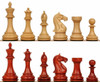 "Fierce Knight Staunton Chess Set with Padauk & Boxwood Pieces - 4"" King"