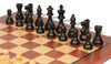 "French Lardy Staunton Chess Set Ebonized and Boxwood Pieces with Classic Mahogany Chess Board 2.75"" King - View 1"