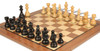 "French Lardy Staunton Chess Set Ebonized and Boxwood Pieces with Classic Walnut Chess Board 2.75"" King - Zoom 1"