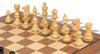 "French Lardy Staunton Chess Set Ebonized and Boxwood Pieces with Classic Walnut Chess Board 2.75"" King - Boxwood Zoom"