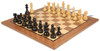 "French Lardy Staunton Chess Set Ebonized and Boxwood Pieces with Classic Walnut Chess Board 3.25"" King - View 1"