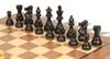 """French Lardy Staunton Chess Set Ebonized and Boxwood Pieces with Classic Walnut Chess Board 3.25"""" King - Ebonized Zoom"""