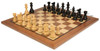 "French Lardy Staunton Chess Set Ebonized and Boxwood Pieces with Classic Walnut Chess Board 3.75"" King - View 2"