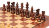 """French Lardy Staunton Chess Set Rosewood & Boxwood Pieces with Classic Mahogany Chess Board - 2.75"""" King"""