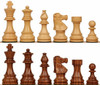 "French Lardy Staunton Chess Set with Golden Rosewood & Boxwood Pieces - 2.75"" King"