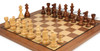 "French Lardy Staunton Chess Set Golden Rosewood & Boxwood Pieces with Classic Walnut Chess Board - 3.25"" King"