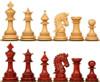 """Hadrian Staunton Chess Set with Padauk & Boxwood Pieces - 4.4"""" King"""