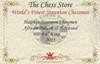 "Hadrian Staunton Chess Set Padauk and Boxwood Pieces 4.4"" King Certificate"