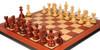 "Hadrian Staunton Chess Set Padauk & Boxwood Pieces with Molded Edge Padauk Chess Board - 4.4"" King"