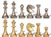 Traditional Staunton Solid Brass Chess Set by Italfama