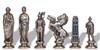 Italfama Caesar Metal Chess Set Silver Pieces