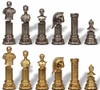 Roman Emperor Bust Theme Metal Chess Set by Italfama