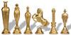 Renaissance Theme Metal Chess Set by Italfama