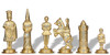 Camelot Theme Metal Chess Set by Italfama