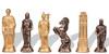 Romans & Barbarians Theme Metal Chess Set by Italfama
