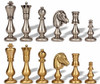 Contemporary Staunton Solid Brass Chess Set by Italfama
