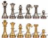 Small Staunton Solid Brass Chess Set by Italfama